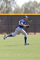 Carlo Testa #22 of the Kansas City Royals  plays in minor league spring training game against the Texas Rangers at the Rangers minor league complex on March 22, 2011  in Surprise, Arizona. .Photo by:  Bill Mitchell/Four Seam Images.