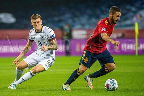17th November 2020;  Estadio La Cartuja de Sevilla, Seville, Spain; UEFA Nations League Football, Spain versus Germany;  Toni Kroos (ger) beaten by the run from Koke (esp)