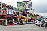 Ipoh, Malaysia.  Mustapha Al-Bakry Street Scene and Local Architecture.
