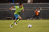 SAN JOSE, CA - MAY 12: Danny Leyva  #75 of the Seattle Sounders dribbles the ball during a game between San Jose Earthquakes and Seattle Sounders FC at PayPal Park on May 12, 2021 in San Jose, California.