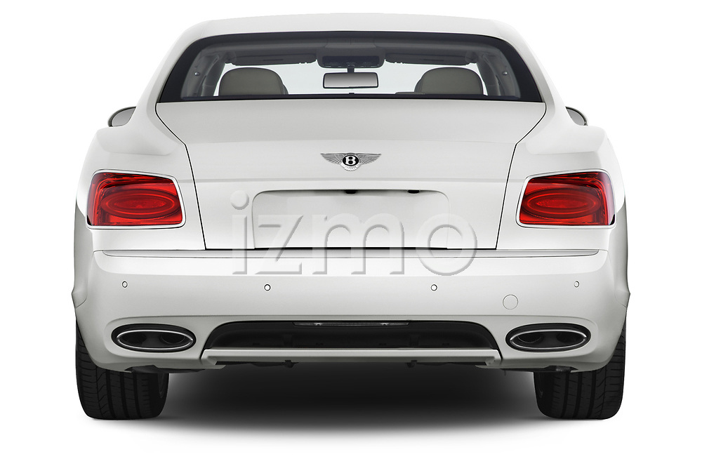 Straight rear view of 2016 Bentley Continental   Flying Spur 4 Door Sedan stock images