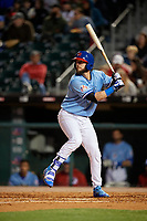 Buffalo Bisons designated hitter Jarrod Saltalamacchia (40) bats during a game against the Pawtucket Red Sox on May 19, 2017 at Coca-Cola Field in Buffalo, New York.  Buffalo defeated Pawtucket 7-5 in thirteen innings.  (Mike Janes/Four Seam Images)