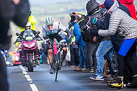 Picture by Alex Whitehead/SWpix.com - 29/04/2016 - Cycling - 2016 Tour de Yorkshire, Stage 1: Beverley to Settle - Yorkshire, England - Pete Williams of One Pro Cycling wins the King of the Mountains on Stage 1.