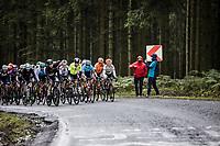 chasing peloton with Annemiek Van Vleuten (NED/Mitchelton Scott) in the front line <br /> <br /> 4th Liège-Bastogne-Liège-Femmes 2020 (1.WWT)<br /> 1 Day Race: Bastogne – Liège 135km<br /> <br /> ©kramon