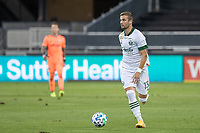 SAN JOSE, CA - SEPTEMBER 16: Dario Zuparic #13 of the Portland Timbers controls the ball during a game between Portland Timbers and San Jose Earthquakes at Earthquakes Stadium on September 16, 2020 in San Jose, California.