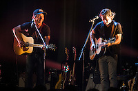 les Chansonneurs  perform at<br /> the  Festival en Chanson of Petite-Vallee in Gaspesia on July 2nd, 2014.<br /> <br /> Photo : Agence Quebec Presse  - Frederic Seguin