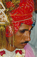 Bräutigam, Bikaner (Rajasthan), Indien