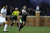 WINSTON-SALEM, NC - DECEMBER 07: Bruno Lapa #10 of Wake Forest University chases the ball during a game between UC Santa Barbara and Wake Forest at W. Dennie Spry Stadium on December 07, 2019 in Winston-Salem, North Carolina.