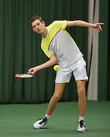Rotterdam, The Netherlands, March 18, 2016,  TV Victoria, NOJK 14/18 years, Thijmen Loof (NED)<br /> Photo: Tennisimages/Henk Koster