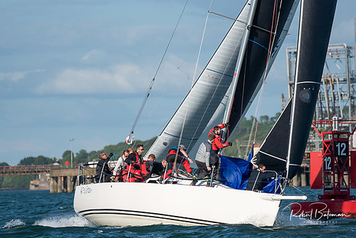 Royal Cork J/109 cruiser-racer Jelly Baby in action in Cork Harbour