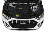 Car Stock 2021 Audi Q5 Premium 5 Door SUV Engine  high angle detail view