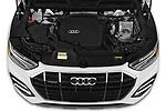 Car Stock 2021 Audi Q5 Premium 5 Door SUV Engine  high angle detail view