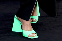 LOS ANGELES - AUG 25:  Bebe Rexha shoe detail at the Queenpins Photocall at the Four Seasons Hotel Los Angeles on August 25, 2021 in Los Angeles, CA