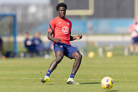 BRADENTON, FL - JANUARY 23: Aboubacar Keita moves with the ball during a training session at IMG Academy on January 23, 2021 in Bradenton, Florida.