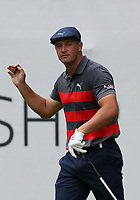 29th August 2021; Owens Mills, Maryland, USA;  Bryson DeChambeau (USA) waives to the crowd from the 1st tee during the final round of the BMW Championship on August 29, 2021, at Caves Valley Golf Club in Owings Mills, MD.