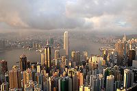Overlooking the skylines on Hong Kong Island from the Peak, Hong Kong..