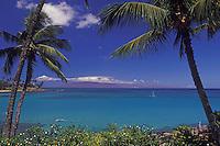 A beautiful day at Napili Bay, Maui, Hawaii, USA.