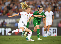 PASADENA, CALIFORNIA - August 03: Samantha Mewis #3 during their international friendly and the USWNT Victory Tour match between Ireland and the United States at the Rose Bowl on August 03, 2019 in Pasadena, CA.