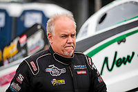 Sep 13, 2019; Mohnton, PA, USA; NHRA funny car driver Mike Smith during the Reading Nationals at Maple Grove Raceway. Mandatory Credit: Mark J. Rebilas-USA TODAY Sports