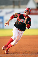August 26 2008:  Jose Garcia of the Batavia Muckdogs, Class-A affiliate of the St. Louis Cardinals, during a game at Dwyer Stadium in Batavia, NY.  Photo by:  Mike Janes/Four Seam Images