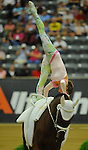 8 October 2010: Rikke Laumann (DEN) performs during the Vaulting Techincals in the World Equestrian Games in Lexington, Kentucky