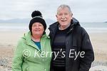 Enjoying a stroll on Banna beach on Saturday, l to r: Breda and Pat Mulrennan