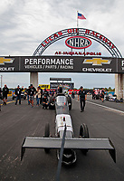 Aug 31, 2019; Clermont, IN, USA; NHRA top alcohol dragster driver Jasmine Salinas during qualifying for the US Nationals at Lucas Oil Raceway. Mandatory Credit: Mark J. Rebilas-USA TODAY Sports