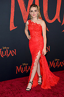 """LOS ANGELES, CA: 09, 2020: Meg Donnelly at the world premiere of Disney's """"Mulan"""" at the El Capitan Theatre.<br /> Picture: Paul Smith/Featureflash"""