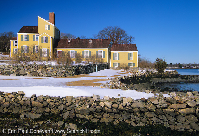The Wentworth-Coolidge Mansion; this 18th-century mansion is located in Portsmouth, New Hampshire, and it overlooks Little Harbor. It is the former home of New Hampshire's first royal governor, Benning Wentworth. Benning Wentworth served in office from 1741 to 1767.
