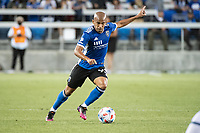 SAN JOSE, CA - AUGUST 13: Judson #93 of the San Jose Earthquakes passes the ball during a game between San Jose Earthquakes and Vancouver Whitecaps at PayPal Park on August 13, 2021 in San Jose, California.