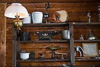 Amérique/Amérique du Nord/Canada/Québec/ Mauricie/Mandeville: A la pourvoirie Koubek à Lac La Chute  détail de la salle de restaurant