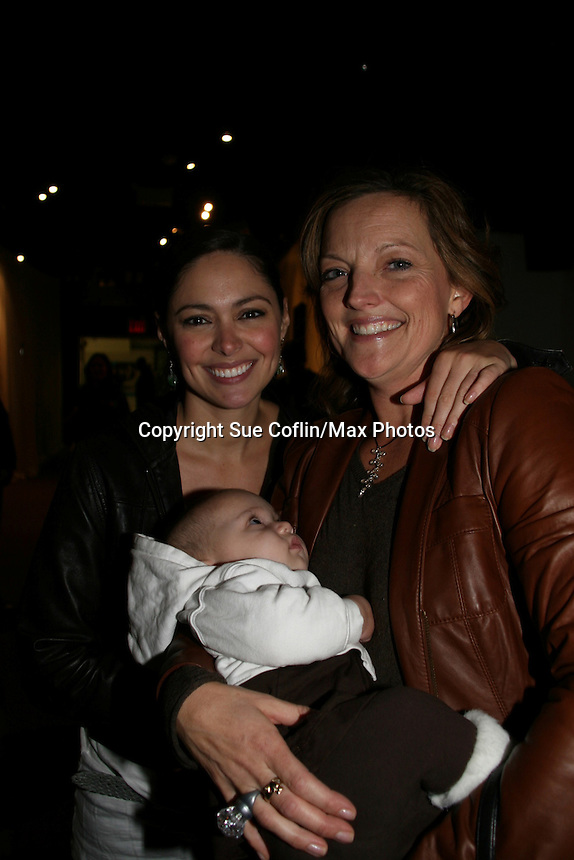 Guiding Light's Jessica Leccia & daughter Ivy and Orlagh Cassidy at the 2009 Daytime Stars and Strikes to benefit the American Cancer Society on October 11, 2009 at the Port Authority Leisure Lanes, New York City, New York. (Photo by Sue Coflin/Max Photos)