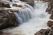 Rocky Gorge Scenic Area along the Swift River in the White Mountain National Forest of New Hampshire USA. This is a roadside attraction along the Kancamagus Scenic Byway.