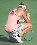 July  23, 2016:  Yanina Wickmayer (BEL) defeated Yulia Putintseva (KAZ) 6-4, 6-2, at the Citi Open being played at Rock Creek Park Tennis Center in Washington, DC.  ©Leslie Billman/Tennisclix/CSM