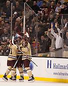 The Boston College Eagles defeated the Northeastern University Huskies 6-3 on Monday, February 11, 2013, at TD Garden in Boston, Massachusetts.
