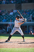Surprise Saguaros left fielder Bryan Reynolds (10), of the Pittsburgh Pirates organization, at bat during an Arizona Fall League game against the Salt River Rafters at Salt River Fields at Talking Stick on November 5, 2018 in Scottsdale, Arizona. Salt River defeated Surprise 4-3 . (Zachary Lucy/Four Seam Images)