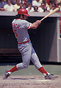 Cincinnati Reds Johnny Bench (5) in action during a game from his 1972 season. Johnny Bench played for 17 seasons, all with the Cincinnati Reds. Johnny Bench was a 14 -time All-Star, 2-time National League MVP and was inducted to the Baseball Hall of Fame in 1989.