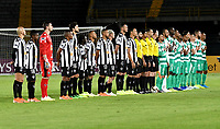 BOGOTÁ-COLOMBIA, 27-08-2019: Jugadores de La Equidad (COL) y Atlético Mineiro (BRA), durante partido de vuelta de los cuartos de final entre La Equidad (COL) y Club Atlético Mineiro (BRA), por la Copa Conmebol Sudamericana 2019 en el estadio Nemesio Camacho El Campin, de la ciudad de Bogotá. / Players of La Equidad (COL) and Atletico Mineiro (BRA), during a match between La Equidad (COL) and Club Atletico Mineiro (BRA), of the second leg of the quarter finals for the Conmebol Sudamericana Cup 2019 in the Nemesio Camacho El Campin stadium in Bogota city. Photo: VizzorImage / Luis Ramírez / Staff.
