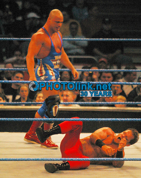 Chris Benoit 2003 RED TIGHTS<br /> Madison Square Garden<br /> Photo By John Barrett/PHOTOlink.net