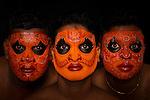 Theyyam dancers, Cochin, Kerala, India