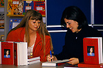 Monica Lewinsky book signing session her autobiography Monicas Story signing copy for fan. Story Lakeside Shopping Centre Essex 1990s UK