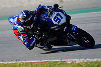 29th March 2021; Barcelona, Spain;  Superbikes, WorldSSP300 , day 1 testing at Circuit Barcelona-Catalunya; Filippo Palazzi (ITA) riding Yamaha YZF-R3 from ProGPRacing