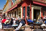 Frankreich, Provence-Alpes-Côte d'Azur, Nizza: Cafés auf dem Cours Saleya | France, Provence-Alpes-Côte d'Azur, Nice: cafes at Cours Saleya