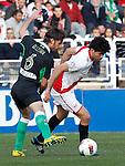 Madrid (03/03/2012).-Campo de Futbol de Vallecas..Liga BBVA..Rayo Vallecano-Real Racing Club..Cisma, Diego Costa...©Alex Cid-Fuentes.......