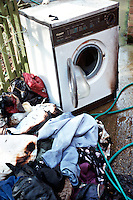 Fire burnt out washing machine
