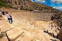 Pictures & images of the ancient Roman ampitheatre  of Myra, Anatolia, Turkey.