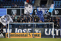 SAN JOSE, CA - MAY 1: San Jose Earthquakes fans during a game between D.C. United and San Jose Earthquakes at PayPal Park on May 1, 2021 in San Jose, California.