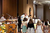 St. Sebastian Catholic Church, Los Angeles.  French First Holy Communion.  Communion Francais.  30 Mai 2010.