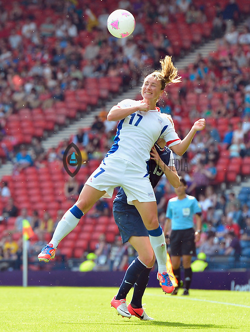 July 25, 2012..Gaetane Thiney (17), USA vs France Football match during 2012 Olympic Games at Hampden Park in Glasgow, England. USA defeat France 4-2 after conceding two goals in the first half of the match...(Credit Image: © Mo Khursheed/TFV Media)