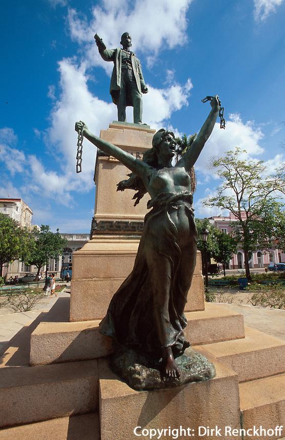 Cuba, Denkmal Jose Marti im Parque Liberdad in Matanzas